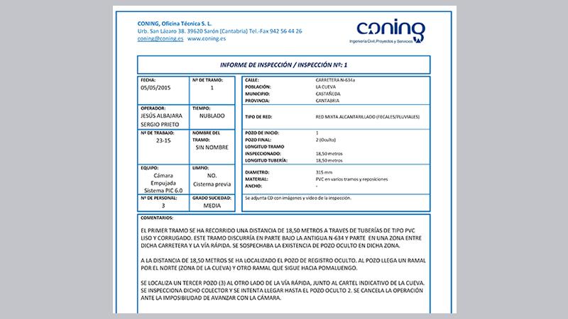 001 AITLC Inspeccion, Localizacion atasco tuberia sanemaiento,Autovia La Encina Torrelavega, Coning Oficina  Ingenieria, Proyectos, Topografica e Inspeccion Tuberia (2)