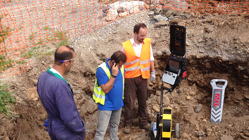 006 AITLC Inspeccion, Localizacion atasco tuberia sanemaiento,Autovia La Encina Torrelavega, Coning Oficina Tecnica Ingenieria, Proyectos, Topografica e Inspeccion Tuberias