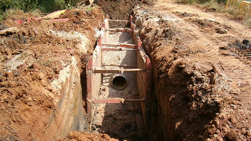 007 ATEOC  Replanteo Saneamiento,Excavacion, Seguridad y Proteccion Obra, Tuberia Fundicion Talud, Coning Oficina Ingenieria, Proyectos, Topografica e Inspeccion Tuberia