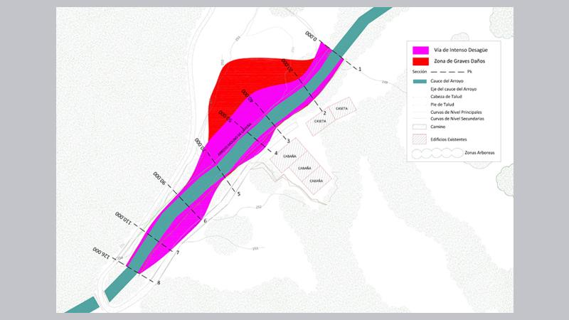 015 AIEH  Plano Flujo preferente, Plano de planta,, Arroyo, Rio, Confedercion Hidrografica de Tuberias.,Coning Oficina Ingenieria, Proyectos,Topografica e Inspeccio(9)