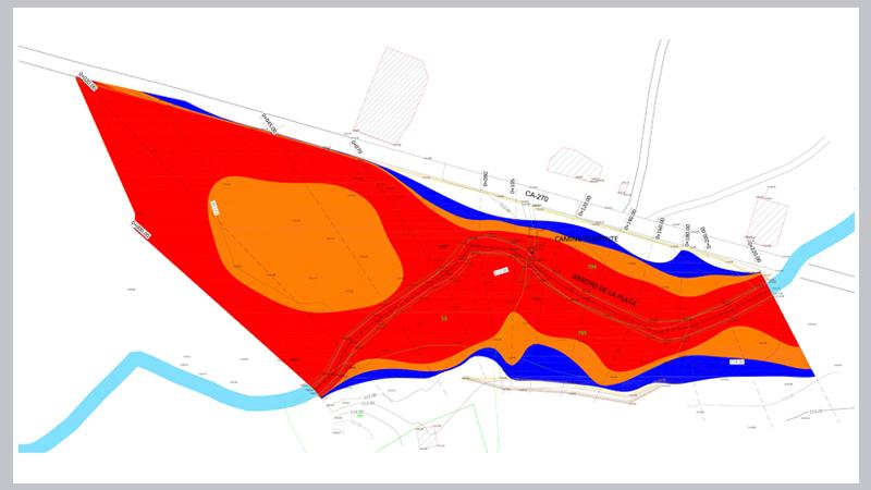 022 AIEH Inundaciones, Plano, cauce, Licencia, condederacion, estudio, Topografia, avenida, medicion, Zona de flujo preferente, dominio Publico,talud, danos graves, intenso