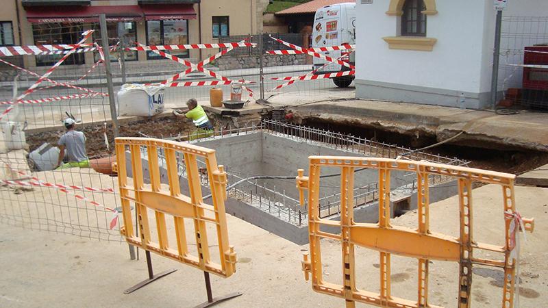 028 AIPO Arqueta Bombeo, Comillas, Hormigon, Escavacion, Vaciado, Vallas, Proteccion, Armadura,Coning Oficina Tecnica Ingenieria