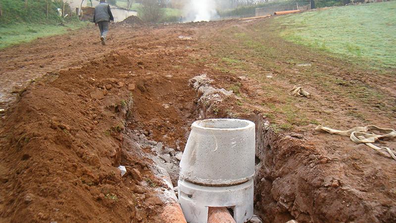 028 ATEOC  Replanteo Saneamiento en Totero, Movimiento tierras, Cubicacion, Nivelacion Pendientes, Coning Oficina Ingenieria, Proyectos, Topografica e Inspeccion Tuberia